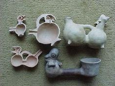 Archaic Roots ~ The Unique Instruments We Call Whistling Vessels- Huaco Silbador Ceramic Birds, Ceramic Clay, Ceramic Pottery, Animal Sculptures, Sculpture Art, Motif Music, Ancient Peruvian, Cool Experiments, Ceramic Texture