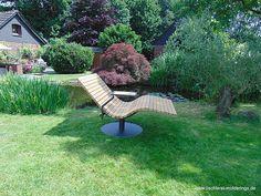 Sonnenliege SunDivan Outdoor Chairs, Outdoor Furniture, Outdoor Decor, Moderne Pools, Backyard Gazebo, Garden Chairs, Sun Lounger, Home Decor, Gardens