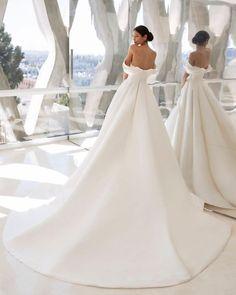 A-Line Wedding Dresses 2020/2021 Collections Overview ❤ a line wedding dresses a line off the shoulder simple pronovias #weddingforward #wedding #bride