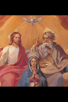 Holy Trinity and Virgin Mary