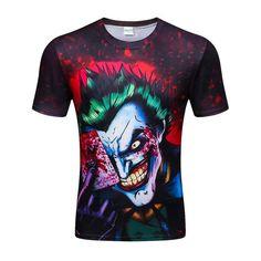 Aliexpress.com: Comprar Nuevo Estilo de Los Hombres Camiseta de la Impresión 3d Zombie Clown 3d Camisetas Poker Anime Hip Hop Tops de Verano Camisetas de La Moda al por mayor de fashion tees fiable proveedores en LVwei Store