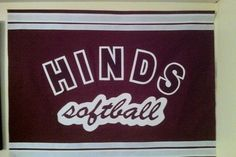 Banner I made my niece for Hinds Community College softball