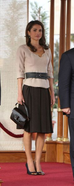 Lanvin shoes.Queen Rania