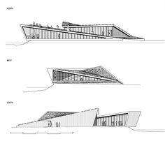 Trollstigen Service Centre and Café, Rauma University Architecture, Studios Architecture, Pavilion Architecture, Urban Architecture, Architecture Details, Concept Board Architecture, Mall Design, Facade Design, Layout