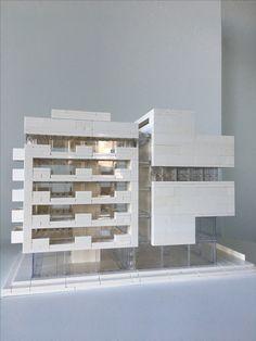 Lego Architecture, Lego Architecture Studio, Harm Bron, Amsterdam Concept Models Architecture, Architecture Model Making, Architecture Design, Legos, Lego Lego, Lego Moc, Lego Star, Lego Space Station, Lego Studios