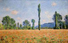 Poppy Field in Giverny 02 1890 Claude Monet