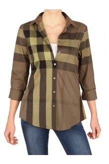 ba36e5f682ad Burberry Brit Giant Exploded Check Cotton Voile Shirt - Lyst Burberry Brit