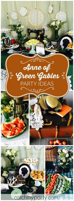 This beautiful Anne Of Green Gables cast party has lots of vintage finds! See more party ideas at Catchmyparty.com!