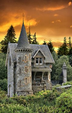 Fairytale Castle #2 by Sandra Cockayne This secret Fairytale Gatelodge is for the Ardverikie Estate, Kinloch Laggan, Inverness-shire, Scotland, UK. Ardverikie House (renamed Glenbogle House) was used in the BBC drama, Monarch of the Glen