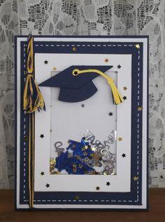 Graduation Photos, Graduation Ideas, Scrapbook Paper Crafts, Scrapbooking, Graduation Cards Handmade, Congratulations Graduate, Shaker Cards, Masculine Cards, Stampin Up Cards
