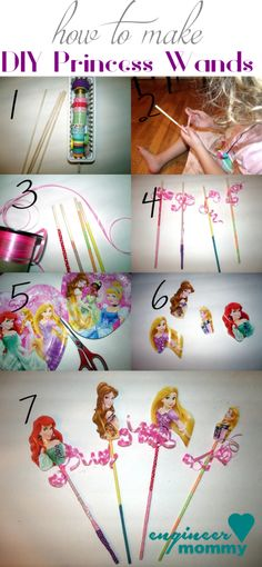Make these easy DIY Princess Wands..so much fun for a birthday party - or just any day! The BEST Disney Princess Birthday Ever… on a budget! #BDayOnBudget #ad
