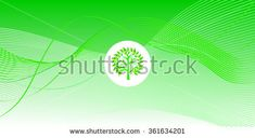 Wave abstract background template green with tree logo, web, Print, wallpaper, Album, Texture, pattern. Vector
