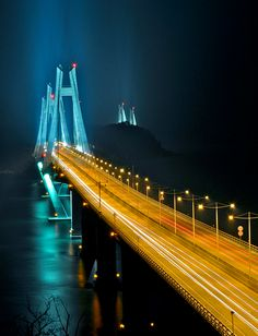 Cool Incheon bridge..The first thing we fall in love with, when arriving!