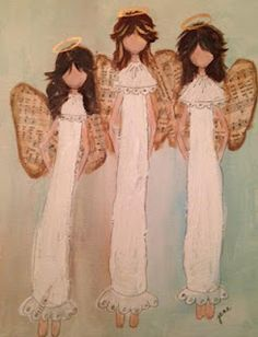 Lace and music angels