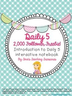 """Daily 5 Interactive Notebook """"Get Started"""" pages! 2,000 Fo"""