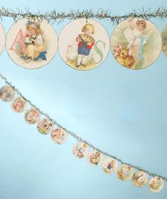 Happy Easter Garland | Vintage Style Easter Card Garland