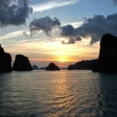 Vietnam. Via T+L (www.travelandleisure.com). According to legend, Ha Long Bay (Descending Dragons Bay in Vietnamese) got its name when the local warlords summoned dragons to combat invading Chinese warriors. The dragons, victorious, took up residence in the beautiful bay.
