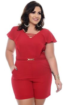 Plus Size Women S Fitness Clothing Key: 4081900239 Plus Size Romper, Plus Size Jumpsuit, Plus Size Dresses, Plus Size Outfits, Curvy Outfits, Classy Outfits, Curvy Fashion, Plus Size Fashion, Looks Plus Size