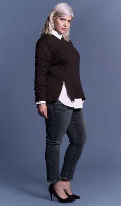 UNIVERSAL STANDARD - Sizes 10-28 - Corbelle Zip Sweater - www.universalstandard.net - Plus Size Inclusive - 1
