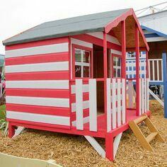 Beach hut themed playhouse, beach seaside children hamsters