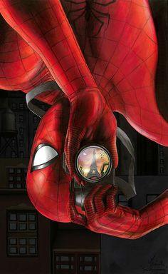 SPIDER-MAN In Paris Fan Art by Cecile Morvan — GeekTyrant