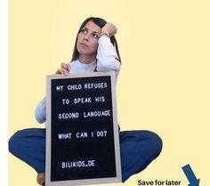 """Rebeca Imberg on Instagram: """"🇪🇸Mi hijo no quiere hablar su segunda lengua conmigo. ¿Qué hago? 🇩🇪Mein Kind weigert sich die zweite Sprache zu sprechen. Was kann ich tun?…"""" What Can I Do, I Can, Second Language, My Children, Lettering, Photo And Video, Instagram, Sons, Kids"""