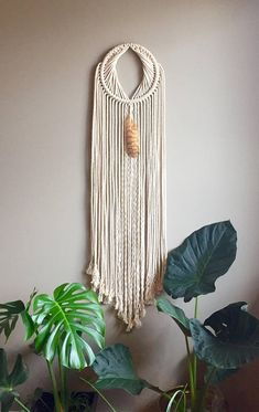 Items similar to JUTE YONI Macramé Dreamcatcher//Jute Wall Hanging Feather Moon Gate Boho Hippie Bohemian Decor Yoni Rope Shiva Shakti Lingam Feng Shui on Etsy Shiva Shakti, Feng Shui, Boho Hippie, Modern Macrame, Deco Boheme, Macrame Plant Hangers, Macrame Design, Macrame Projects, Macrame Knots