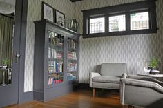 by Sarah Greenman  Old arts & crafts bungalow was painted & wallpapered