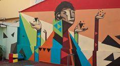 O graffiti do artista brasileiro Iskor