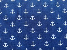 Light Navy Blue Nautical Fabric Cotton Fabric, Boats Fabric, Anchor Fabric Coastal Fabric, Ocean Fabric, Light Navy Blue, Vintage Nautical, Anchor, Boats, Cotton Fabric, Ships