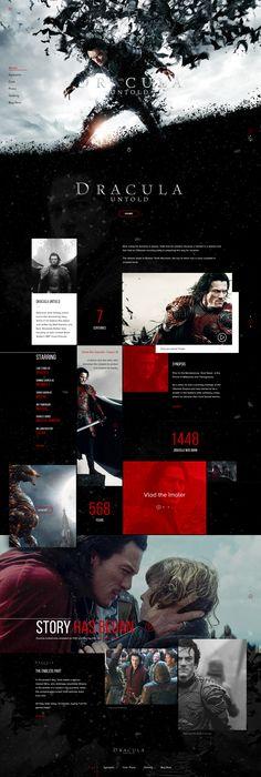 Dracula Untold Movie Concept #concept #webdesign #ui #ux #interface #movie #dracula #action