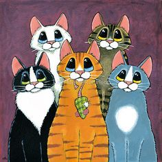 A Feline Family Portrait by Lisa Marie Robinson