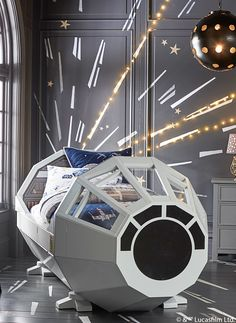 The Millennium Falcon Star Wars Bed