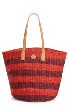 Tory Burch Tyler Straw Tote #commandress