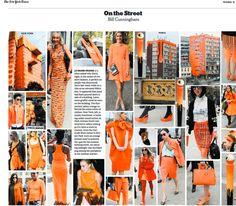 Le Grand Orange Bill Cunningham On the Street # orange #nyc #Paris