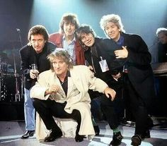Rod Stewart and The Faces last reunion at The Brit Awards 1993.