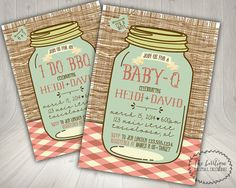 BABY-Q Baby Shower Invitation and Envelopes: Kraft Brown Bag ...