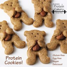 Maple Almond Bear Hug Protein Cookies. D'awwwww