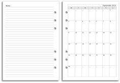 My Life All in One Place: New Filofax A5 diary layout for free download - Month Views Plus Notes