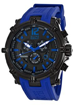 Men's Fortitudo Chronograph Black Dial Blue Silicone