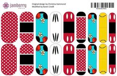 Disney fan? Check out these custom Jamberry nails