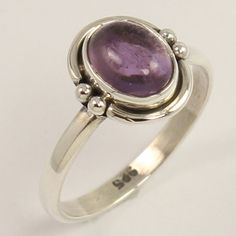 Handmade Ring Size US 5.75 Natural AMETHYST Gemstone 925 Sterling Silver Jewelry…