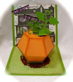 This is the inside of Karli Miranda's Hallowe'en card!  It folds flat for giving.  So smart!