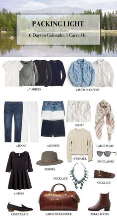 Wardrobe Packing Guide - 1 Week In Colorado In A Carry-On So excited for Capsule Wardrobe Packing Guide - 1 Week In Colorado In A Carry-On So excited for. Capsule Wardrobe Packing Guide - 1 Week In Colorado In A Carry-On So excited for. Minimalist Packing, Summer Minimalist, Minimalist Wardrobe, Minimalist Living, Capsule Outfits, Vacation Outfits, Vacation Packing, Travel Outfits, Weekend Packing List