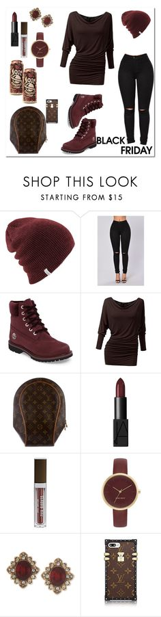 """Black Friday"" by exoduss ❤ liked on Polyvore featuring Timberland, Doublju, Louis Vuitton, Claudio Riaz, Nine West, Marchesa and blackfriday"