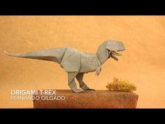 Origami T-Rex by Fernando Gilgado - tutorial - YouTube