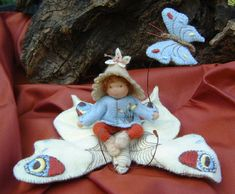 butterfly girl spring doll- inspiration for a spring doll