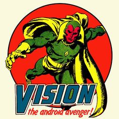 Vision Marvel Comics t shirt The Avengers Thor Captain America Hulk graphic tee in Clothing, Shoes & Accessories, Men's Clothing, T-Shirts | eBay