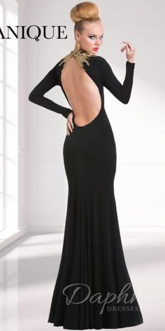 Long Sleeve Evening Dress Janique W320