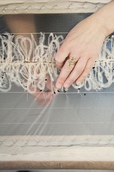 #Haute #Couture - fine feather #embroidery in the making - fashion atelier; fashion design behind the scenes // #Lesage